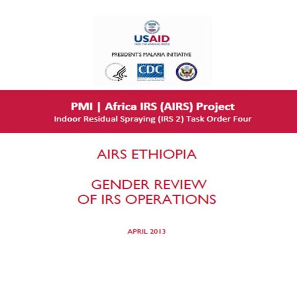 Review of Gender Issues in the AIRS Ethiopia Spray Operations