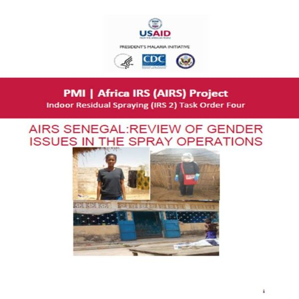 AIRS Senegal: Review of Gender Issues in the Spray Operations