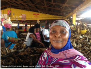 Woman at Fish Market